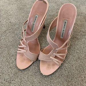 Manila blahnik pink sandals 40
